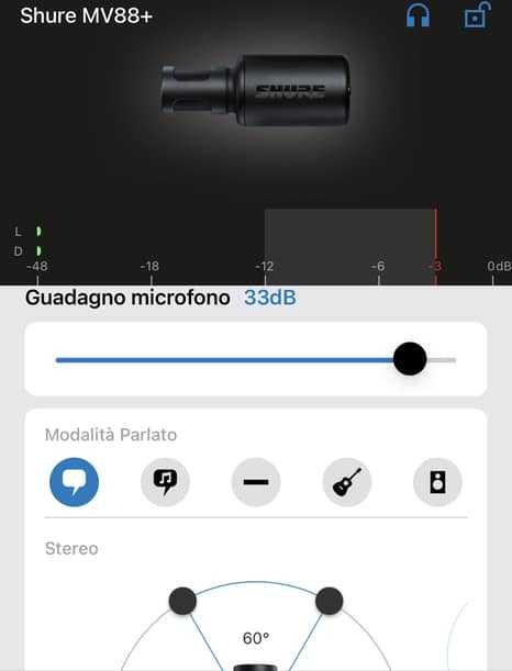 app shure microfono